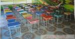 ชุดโต๊ะเก้าอี้นักเรียนหลากสี BBL