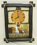 handmade wall clock นาฬิกาติดผนัง งานฝีมือผลิตจากวัสดุธรรมชาติ