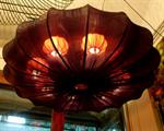 โคมไฟโครงเหล็ก shade ผ้า LF-005