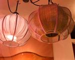 โคมไฟโครงเหล็ก shade ผ้า LF-007