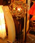 รับออกแบบ โคมไฟไม้
