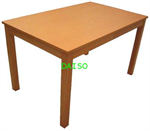 โต๊ะอาหารลายไม้บีช