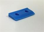 ยางไล่น้ำ ชนิดหลุมสีฟ้า SQUEEGEE 40A blue hole type STC101