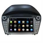 โรงงานดิน Double DVD ติดรถยนต์นำทาง GPS ระบบ Android Hyundai IX35 2014