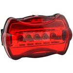 ไฟท้าย LED 5 ดวง สีแดง (ชุดไฟติดจักรยาน)