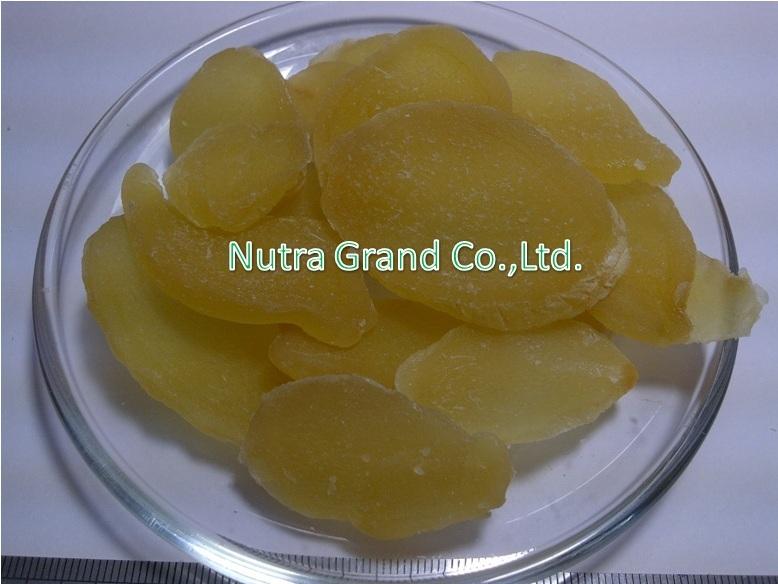 ขิงอบแห้ง (สไลด์แผ่น) สีธรรมชาติ (DHGIS1)