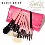 Cerro Qreen Professional Pink Makeup Brushes Dream Set แปรงแต่งหน้า  /10 ชิ้น - Pink