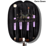 CerroQreen double eye makeup brush แปรงแต่งหน้า sets /4 ชิ้น - Black /Purple