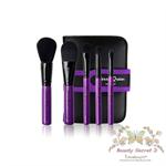 Cerro Qreen full fiber loaded brush แปรงแต่งหน้า set/5ชิ้น - Purple Rose