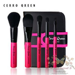Cerro Qreen full fiber loaded brush แปรงแต่งหน้า set/5ชิ้น - Pink