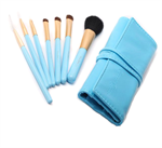 CerroQreen Makeup Brush Sets แปรงแต่งหน้า Set /7 ชิ้น - สีฟ้า