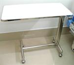 โต๊ะคร่อมเตียง สแตนเลส มีล้อเลื่อน (CS 13)