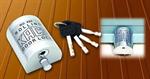 กุญแจล็อคประตูเหล็กม้วน NO.888