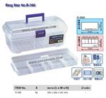กล่องเครื่องมือพลาสติก สีใส Ring Star No.R-390 (NN01401955)