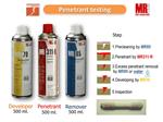 น้ำยาตรวจสอบรอยร้าว Red Dye Penetrant Testing ชนิดล้างด้วยน้ำหรือ solvent
