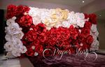 ดอกไม้กระดาษ ฉากดอกไม้กระดาษ