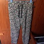 กางเกงขายาวเอวยางยืดลายดอกใส่แล้วเย็นสบาย ไซส์ M