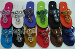 Bohemian beaded Thai silk slipper