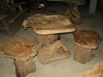 โต๊ะกาแฟรากไม้สัก