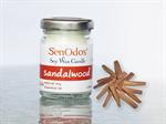 SenOdos เทียนหอมอโรม่า Sandalwood Soy Candle 45 g. - กลิ่นไม้หอมแก่นจันทร์
