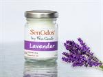SenOdos เทียนหอม อโรม่า Lavender Scented Soy Candle Aroma 45 g. - กลิ่นลาเวนเดอร์แท้