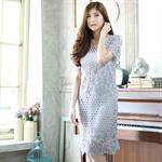 DS0029 เดรสเกาหลี เดรสทำงาน แซก ชุดเดรส เดรสน่ารัก เดรสสั้น เดรส Dress