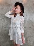 DS0027 เสื้อผ้าแฟชั่น เสื้อผ้าเกาหลีเดรส Dress ชุดเดรส เดรสสั้น เดรสเกาหลี เดรสทำงาน