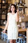 DS0022 เสื้อผ้าแฟชั่น เสื้อผ้าเกาหลี เดรสเกาหลี เดรสทำงาน แซก ชุดเดรส เดรสน่ารัก เดรสสั้น เดรส Dress
