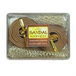 SandalHarvest ธูปขดเล็ก ไม้หอมแก่นจันทร์  ไม้จันทร์หอม หอมอโรม่า แท้ 100%