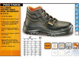 รองเท้า Safety หนังแท้ หุ้มข้อ