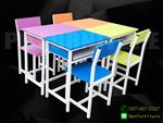 โต๊ะเก้าอี้นักเรียนสั่งแบบ,ขนาดและสีตามต้องการสินค้าใหม่ราคาโรงงาน ราคาเริ่มต้นที่ชุดละ1,100บ.