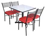 ชุดโต๊ะเก้าอี้ร้านอาหาร (โต๊ะ 1 ตัวพร้อม เก้าอี้ 4 ตัว)ในราคาโปรโมชั่นชุดละ 1,990 บ.