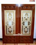 ประตู ไม้สัก กระจกนิรภัย ประตูไม้สักบานเลื่อน ร้านวรกานต์ค้าไม้