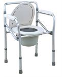 FS894L เก้าอี้นั่งถ่ายอลูมิเนียมอัลลอยด์ พร้อมถัง (COMMODE CHAIR)