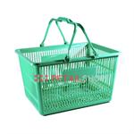ตะกร้าช๊อปปิ้งพลาสติก Modern Trade สีเขียว