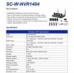 กล้องวงจรปิด รุ่น SC-W-NVR1404