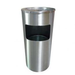 ถังขยะสแตนเลส แบบมีที่เขี่ยบุหรี่ มีถังเล็กอยู่ภายใน14-002-00035