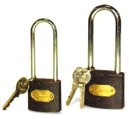กุญแจคอยาวสีดำ ขนาด 50 มม.