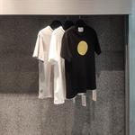 2020 summer round bronzing printing trend round collar cotton short-sleeved T-shirt