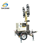 Outdoor popular mini trailer portable mobile type light tower easy to use