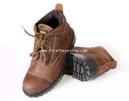 รองเท้าหุ้มข้อหัวตัดหนังออยล์หนังแท้อย่างหนา รุ่น FF-532KST