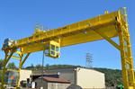 Rail Mounted Type 25ton Mg กล่องประเภท Double Girder Gantry Crane