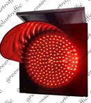 โคมสัญญาณไฟกระพริบ พลังงานแสงอาทิตย์ (ไฟLEDสีแดง)