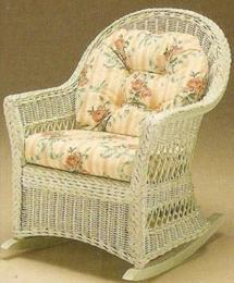 เก้าอี้หวายสีขาววินเทจ2 B34