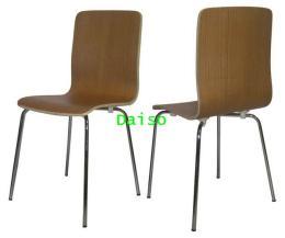 เก้าอี้ไม้วีเนียร์โชว์ลายไม้