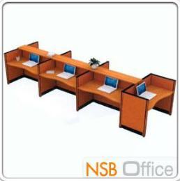 ชุดโต๊ะทำงาน 7 ที่นั่ง (Option ตู้ลิ้นชักใต้โต๊ะ)