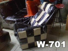 เก้าอี้โซฟาร้านอินเตอร์เน็ต ขาไม้ W701