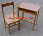 โต๊ะ เก้าอี้นักเรียนไม้ยางพาราทั้งตัวระดับประถม