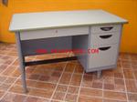 โต๊ะทำงานเหล็ก 4 ลิ้นชักหน้ายาง