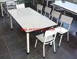 โต๊ะ เก้าอี้อนุบาลโฟเมก้าขาว